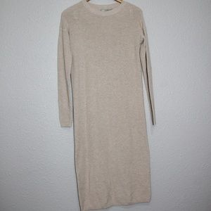 Asos Tan Midi Length Long Sleeve Sweater Dress 2